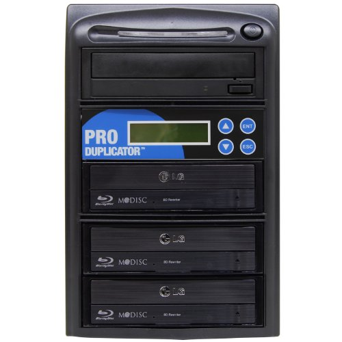 Produplicator 1 to 3 14x Blu-ray Burner BD BDXL M-Disc CD DVD Duplicator - Standalone Copier Duplication Tower (Cd Dvd Printer Burner)
