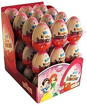Kinder Sorpresa Disney Princess Chocolate Huevos, con juguete interior [Pack de 24]: Amazon.es: Alimentación y bebidas