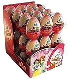 Kinder Sorpresa Disney Princess Chocolate Huevos, con juguete interior [Pack de 24]