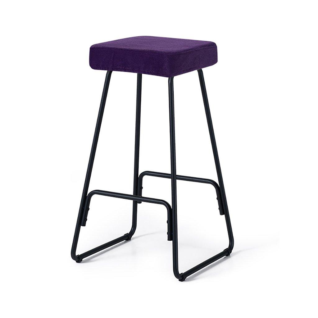 バーツ バースツール、レトロな鉄棒の椅子、創造的なバークロスフットスツール、色:黒、白、サイズ:39 * 39 * 69.5cm バースツール (色 : D) B07DVWHXNW D D