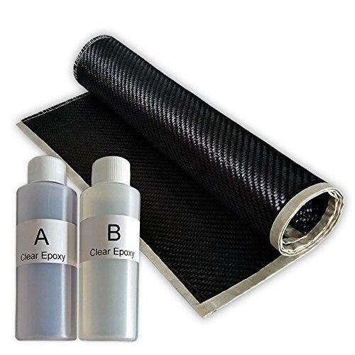 REAL 2x2 Twill 3K 5.7 oz Carbon Fiber Epoxy Resin Kit - 2x2 Twill 36