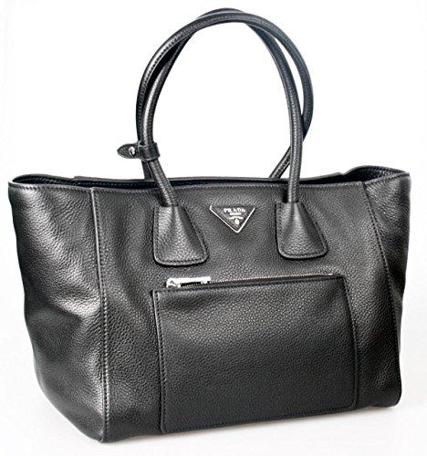 Prada Women's BN2795 Black Leather Shoulder Bag