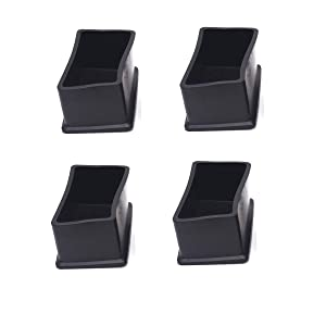"""Antrader 4PCS Table Chair Leg Tips Rectangle Shaped Rubber PVC Furniture Pads Foot End Caps Covers Protectors 1"""" x 2"""""""