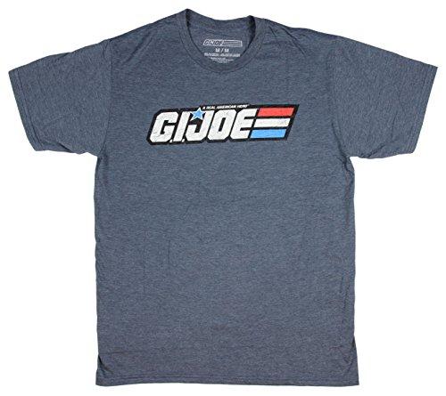 Joe American Hero T-shirt - Men's GI Joe A Real American Hero Distressed Logo Heather T-Shirt (Medium)