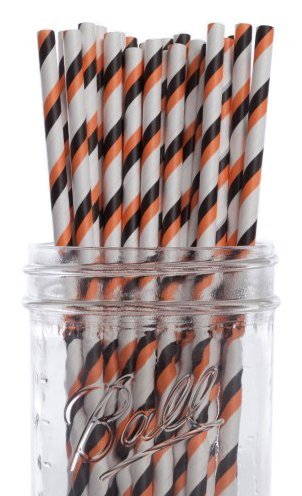 Halloween Cupcakes Ideas (Dress My Cupcake Halloween Striped Paper Straws, 100-Pack)