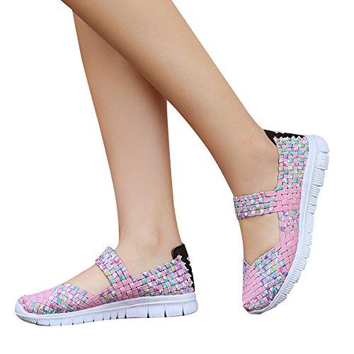 Al Jogging Paja De Calidad Rosado Para Zapatos Colorido Sandalias Bajas Mujer Primera Cómodas Aire Respirable Libre Verano Deportivas YSOYfwqB6