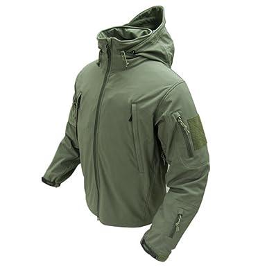 Condor shell hooded fleece jacket black