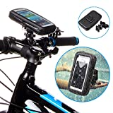 AYAMAYA Bike Bicycle Motorcycle Waterproof Shock-Absorbent CellPhone Case Bag Cover with Handlebar Mount Holder Stand Kit for iPhone 6Plus GPS Samsung Galaxy Note4 Note3 Note2 and Phone up to 5.5