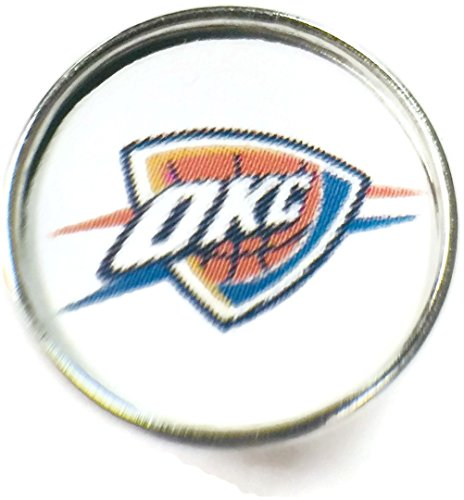 Snap Jewelry Fashion NBA Basketball Logo Oklahoma City Thunder 18MM - 20MM Snap Charm ()