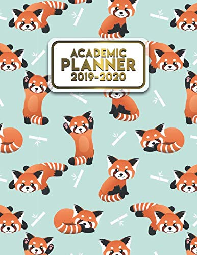 Academic Planner 2019-2020: Cute Red Panda Bears Daily, Weekly & Monthly Student Planner, Organizer & Schedule Agenda for Students | Inspirational Quotes, Notes, To-Do's, Vision Boards & More.