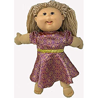 Doll Clothes Superstore Flashy Dress Fits Cabbage Patch Kids 15-16 Inch Baby Dolls and 18 Inch Girl Dolls: Toys & Games