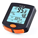 Fenebort Bike Computer Wired Bicycle Speedometer Odometer Waterproof Cycle Computer with 4 Line Digital LCD Backlight Display Multi Function