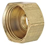 Low Lead Brass Female Adapter, 3/4'' GH x 1/8-27 FNPT Connection - pack of 5
