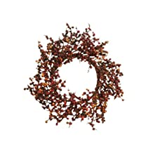 Your Hearts Delight Berries Wreath, 15-Inch, Burgundy and Yellow