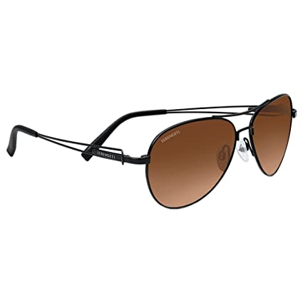 Serengeti Eyewear Sonnenbrille Brando, Satin Black, M, 7886