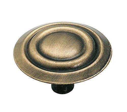 Amerock 875AB Allison Value Hardware Oversized Round Knob, 1-3/8-Inch, Antique Brass by Amerock
