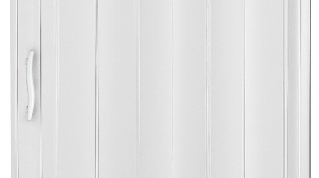 Verriegelung H/öhe 202 cm Einbaubreite bis 85 cm Doppelwandprofil Neu Faltt/ür Schiebet/ür weiss farben mit Schlo/ß