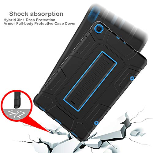 Samsung Galaxy Tab A 10.1 T510 Case, Xintaistore Three Layer Hybrid Rugged Heavy Duty Shockproof Anti-Slip Case Full Body Protection Cover for Tab A Nook 10.1 inch