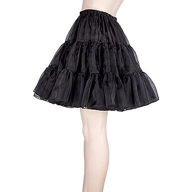 Tinksky Mujeres de lujo falda vestido de falda enagua niñas ...