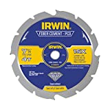 IRWIN Tools Polycrystalline Diamond-Tipped Fiber Cement Circular Saw Blade, 7 1/4-inch, 4-Tooth (4935473)