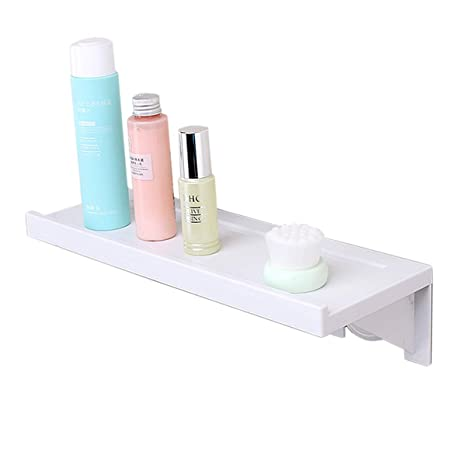 new style c85ab 9c8c3 Floating Shelf, Wall Mounted Display Ledge, Wall Storage Rack with Adhesive  Pad for Room Kitchen Office Bathroom Bedroom White 1-Pack