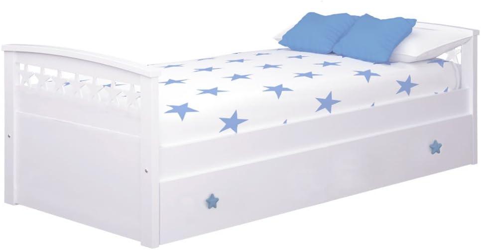 Bainba Cama Nido Estrellas (Colchón 105 X 200, Azul ...