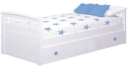 Bainba Cama Nido Estrellas (Colchón 90 X 190, Azul): Amazon ...
