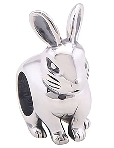 [Sponsored]Sitting Rabbit Charm Bracelet Bead - Sterling Silver 925 4C7Zn5kl