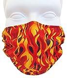 Breathe Healthy Face Mask (Child Size) Kids Allergy & Pollen Mask / Flu Mask - Antimicrobial Germ Killing Agent (Flames Design)