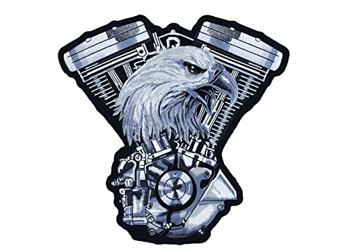 (Lethal Threat (LT30134 Eagle V-Twin Engine Embroidered Patch (11