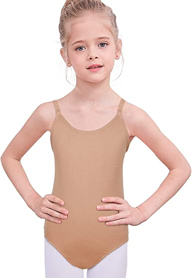 STELLE Girls Nude Seamless Undergarment Camisole Leotard for Dance//Ballet//Gymnastics