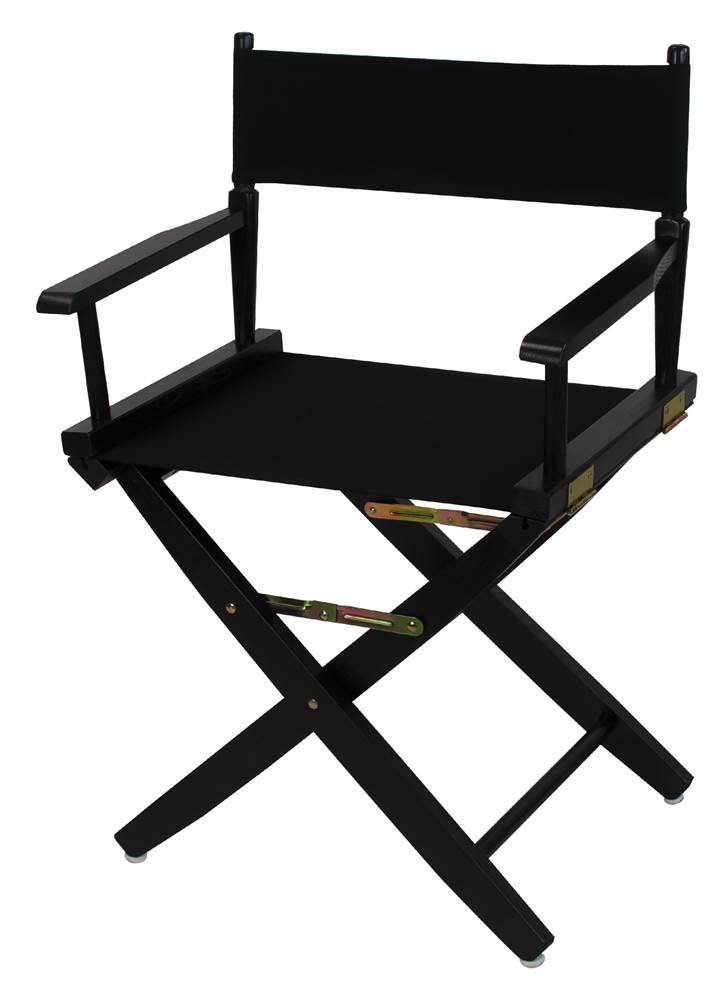 Extra-Wide Premium Directors Chair with Black Canvas