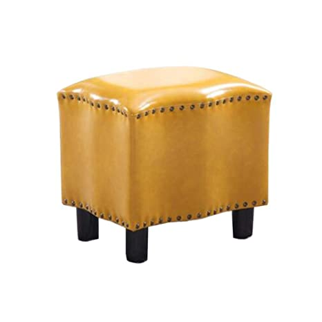 Awe Inspiring Amazon Com Qqxx Upholstered Ottoman Leather Stool Footstool Andrewgaddart Wooden Chair Designs For Living Room Andrewgaddartcom