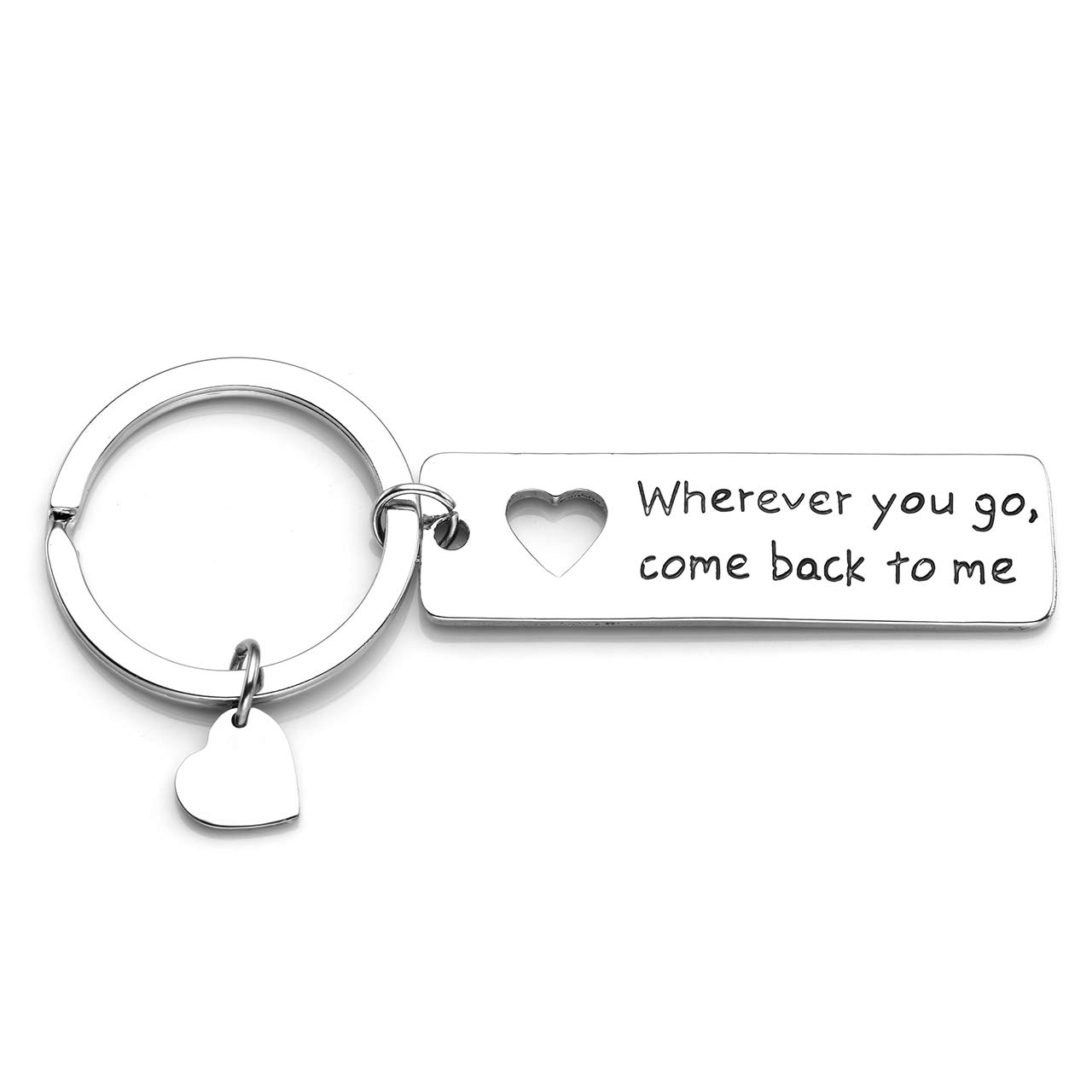 Custom made S.Steel Silver Heart Keyring Keychain PHOTO /& TEXT ENGRAVED