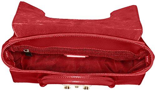 Furla Damen Metropolis S Satchel Business Tasche, 11x19x24 cm Rot (Ruby)