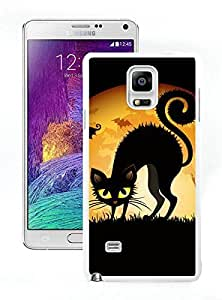 Personalization Halloween cats bats wide White Samsung Galaxy Note 4 Case 1
