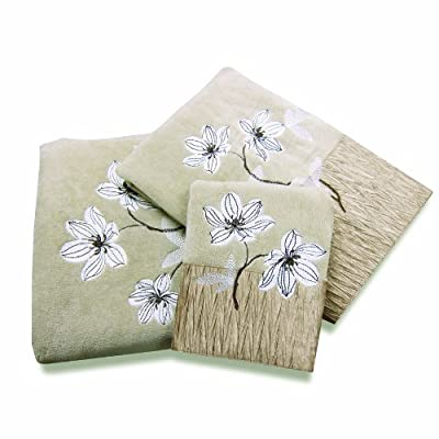 Croscill Magnolia Bath Towel, 27 by 50-Inch, Bronze - 100% Cotton Machine Wash, Cold Water, Gently Cycle; Do Not Bleach; Tumble Dry Low; Remove Immediately Made in China - bathroom-linens, bathroom, bath-towels - 51vP%2BguLAzL. SS400  -