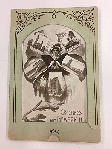 Newark New Jersey Pull Out Souvenir Novelty Antique Postcard K99851