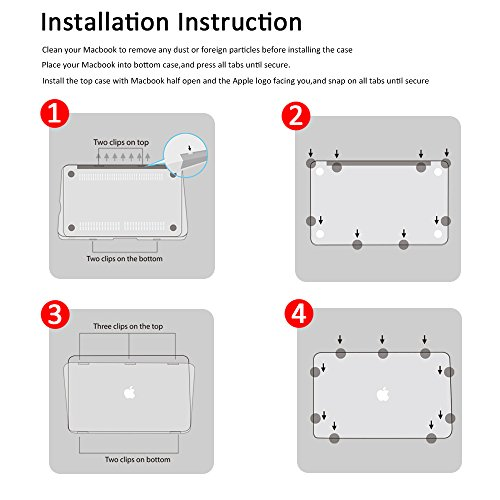 Dongke for MacBook Pro 13 Inch Case 2013-2015, Hard Case Shell Cover with Keyboard Cover for MacBook Pro 13 with Retina Display A1425 A1502 - Creative Idea