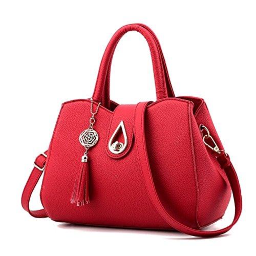 Shoulder Cuir Handbag Couleur 6 tout Femmes Noir Sport Sac Femmes PU A tout Fourre Fourre Crossbody gqwqnax41