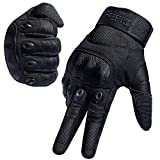 REETOO Tactical Gloves Military Rubber Hard Knuckle Outdoor Gloves Men Fit Cycling Hiking Camping Powersports Airsoft Paintball