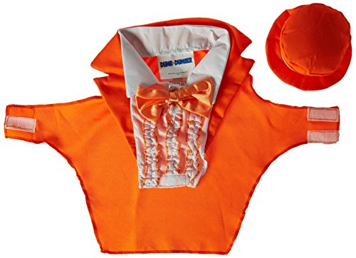 Rasta Imposta Dumb and Dumber Lloyd Orange Tuxedo Dog Costume, X-Large]()