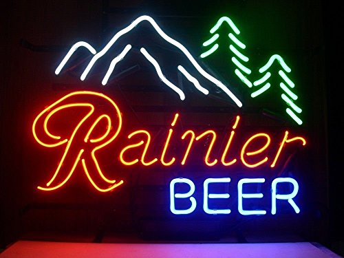 Rainier Beer Neon Light Sign Real Glass Tube Beer Bar Pub 19x15 The Fastest Free Shipgpin