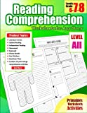 Reading Comprehension 7th Grade: Reading Comprehension Grade 7 Worksheets for Any Story for 6th, 7th, 8th Grade (Reading Comprehension Passages and Questions) (Volume 15)