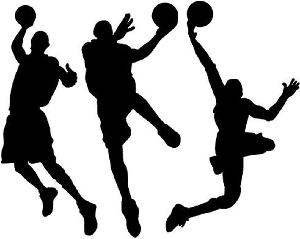 Vinyl Basketball 3 Baloncesto Jugadores Slam Dunk Silhouette ...
