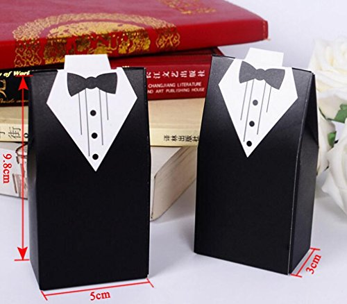 Wedding Gift Box Dubai : Party Favor Boxes Creative Tuxedo Dress Groom Bridal Candy Gift Box ...