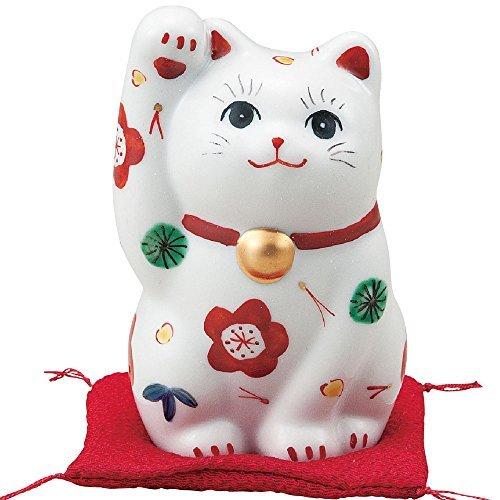 Japanese Maneki Neko Right Hand Lucky Cat Kutani Ceramic