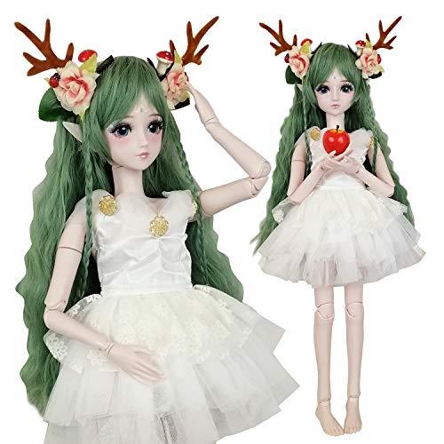 EVA BJD Green Deer 1/3 BJD Doll Spirit Demon Girl 24inch 60cm 19 Ball Jointed Dolls Baby Doll Toy Gift