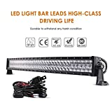 "Auxbeam 42"" LED Light Bar 240W LED Work Light Off Road Lights Spot Flood Combo Beam 80pcs3W CREE Chips Curved 5D Lens for Car Jeep SUV UTV ATV Pickup Truck with Wiring Harness"