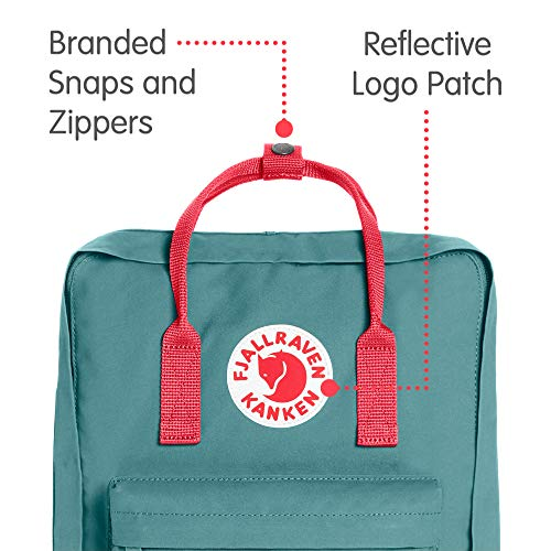 Fjallraven - Kanken Classic Pack, Heritage and Responsibility Since 1960, One Size,Frost Green/Peach Pink by Fjallraven (Image #2)